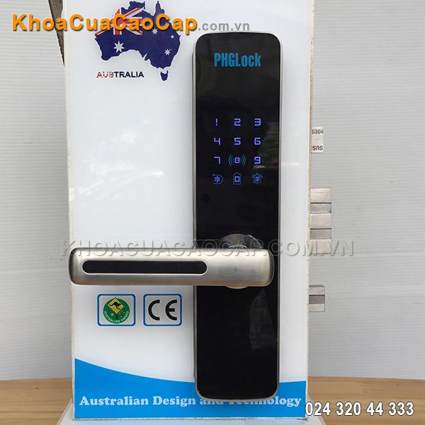 Khóa cửa điện tử mã số - thẻ từ KR7153