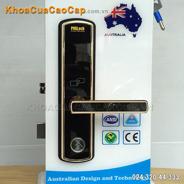 Khóa cửa mã số - thẻ từ KR8010