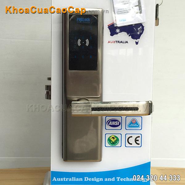 Khóa cửa mã số - thẻ từ KR8161