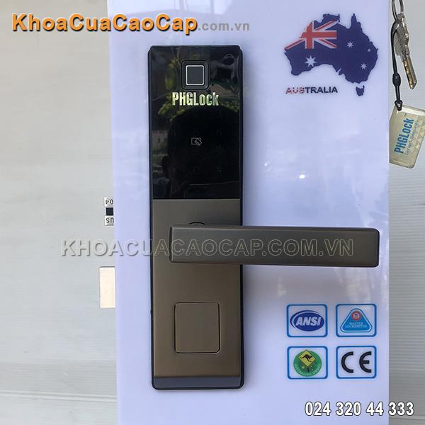 Khóa cửa vân tay mã số thẻ từ FP-6021