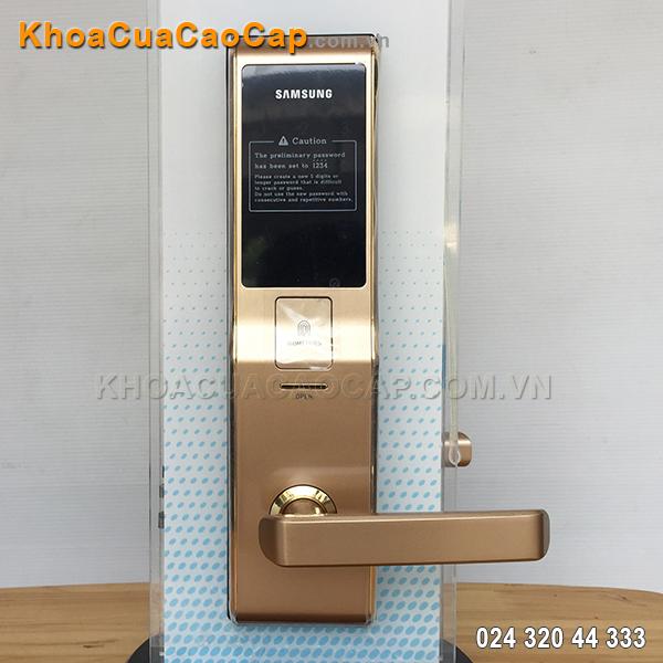 Khóa cửa vân tay Samsung SHS-H705 vàng gold