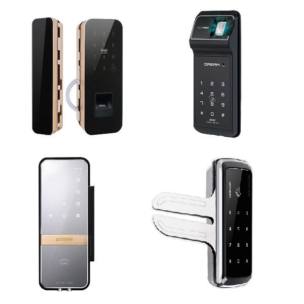 Các mẫu khóa điện tử cửa kính thông dụng