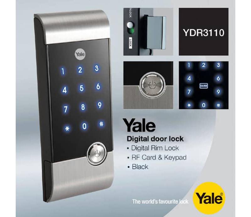 Khóa thẻ từ mã số Yale YDR-3110 - ảnh 4