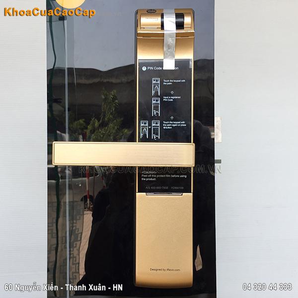 Khóa vân tay mã số Yale YDM-4109-Gold