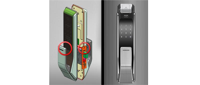 Khóa vân tay Samsung SHS-P718 - ảnh 8