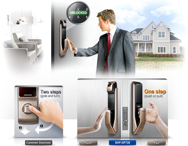 Khóa vân tay Samsung SHP-DP728 - ảnh 7