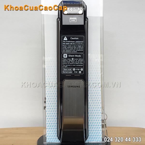 Khóa vân tay Samsung SHS-P718 màu bạc